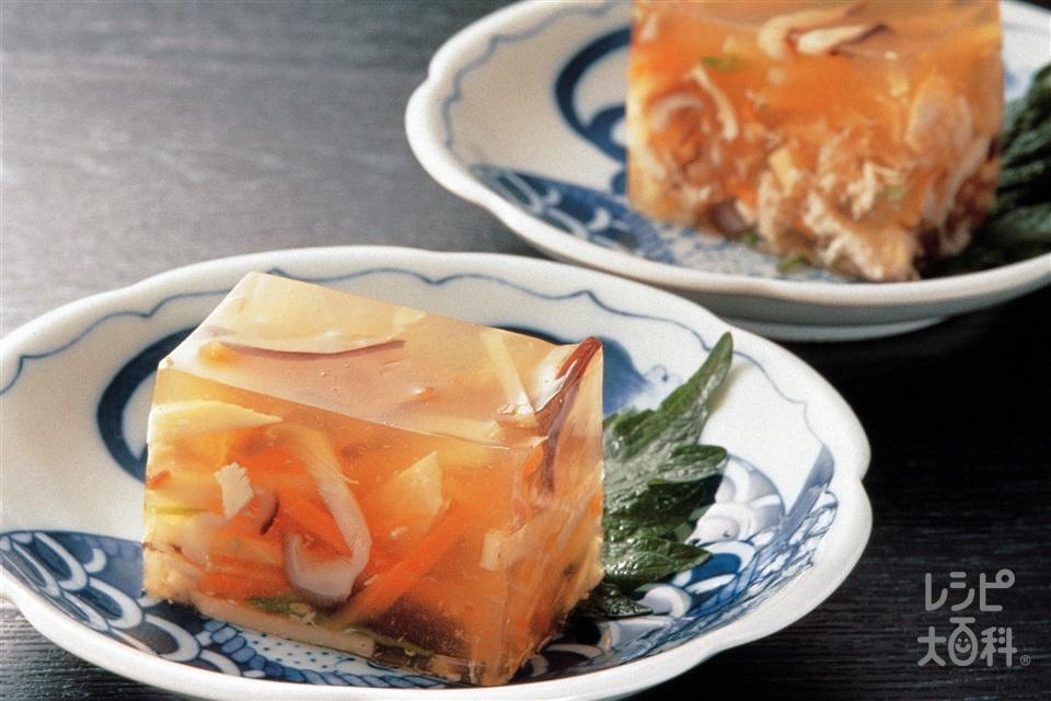 煮こごり(ゆでたけのこ+にんじんを使ったレシピ)
