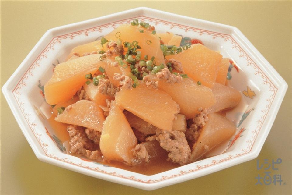 大根とひき肉の炒め煮風(大根+豚赤身ひき肉を使ったレシピ)