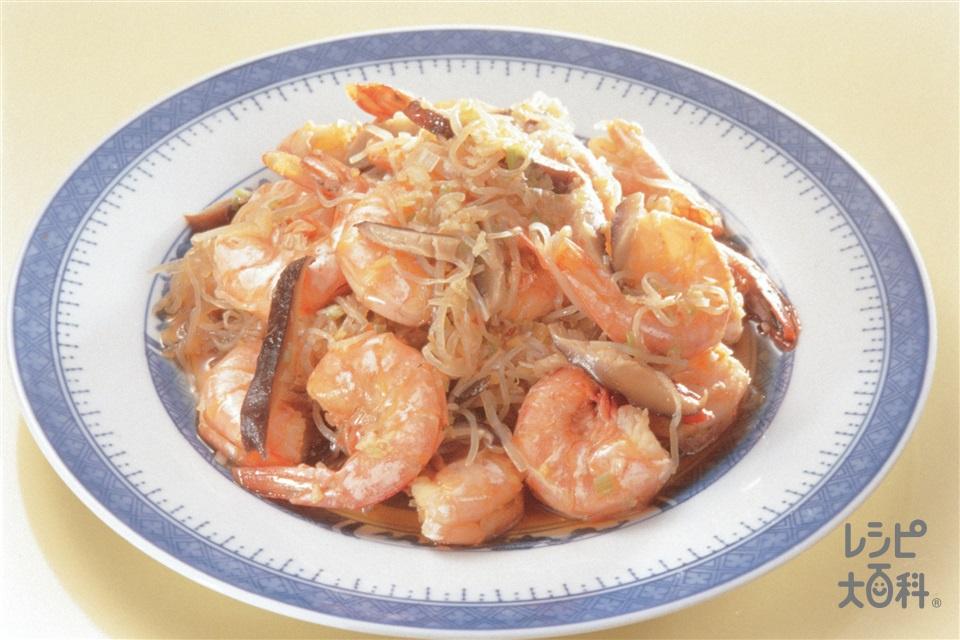 えびとしらたきのピリ辛煮(えび+しらたきを使ったレシピ)