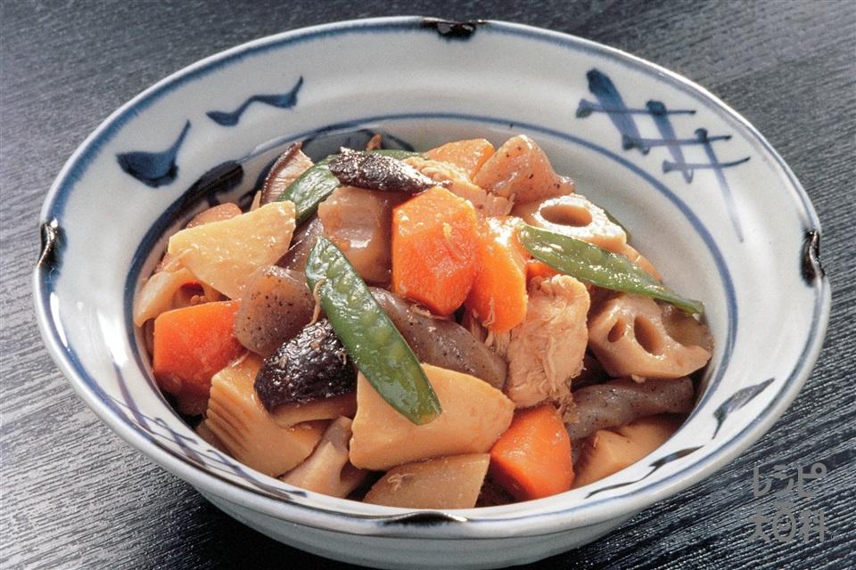 筑前煮(鶏ささ身+ゆでたけのこを使ったレシピ)
