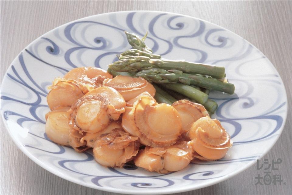 帆立貝の鍋てり焼き(帆立貝柱+Aしょうゆを使ったレシピ)