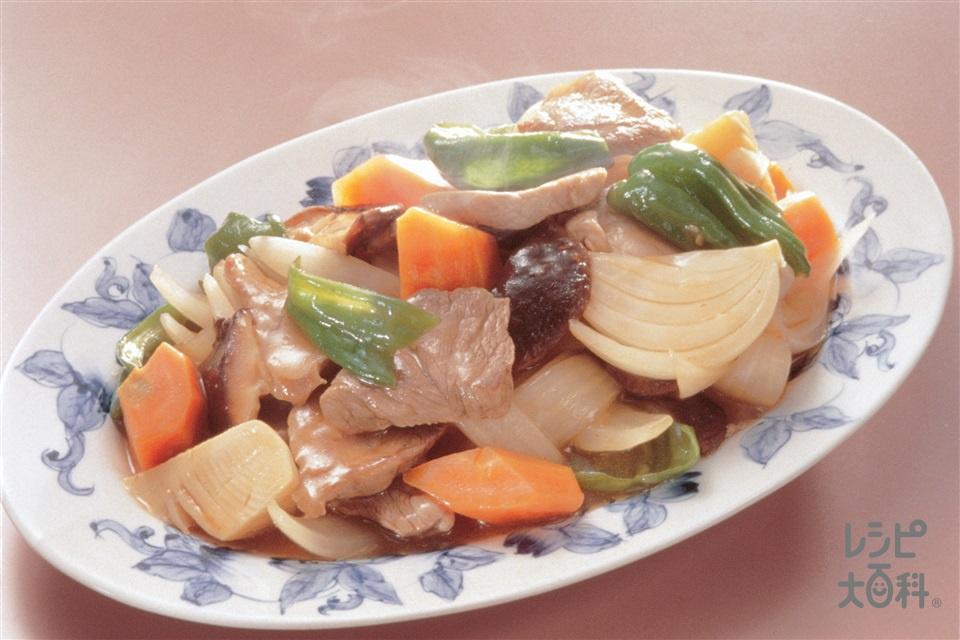 酢豚風(豚もも肉+ゆでたけのこを使ったレシピ)