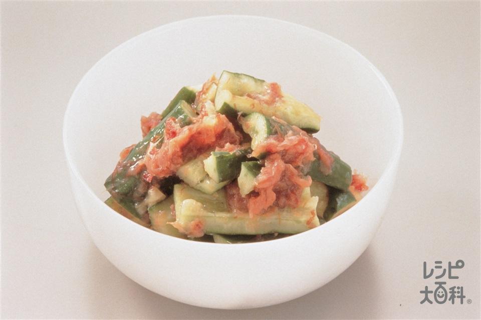 たたききゅうりの梅おかか漬け(きゅうり+梅干しを使ったレシピ)
