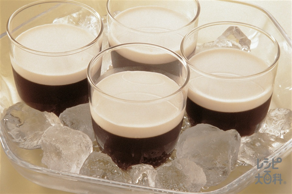 コーヒーゼリー(ゼラチン+牛乳を使ったレシピ)