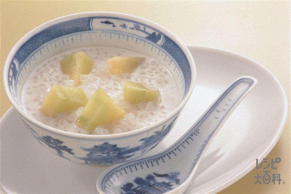 粒こんにゃくのココナッツミルク(ココナッツミルク+牛乳を使ったレシピ)
