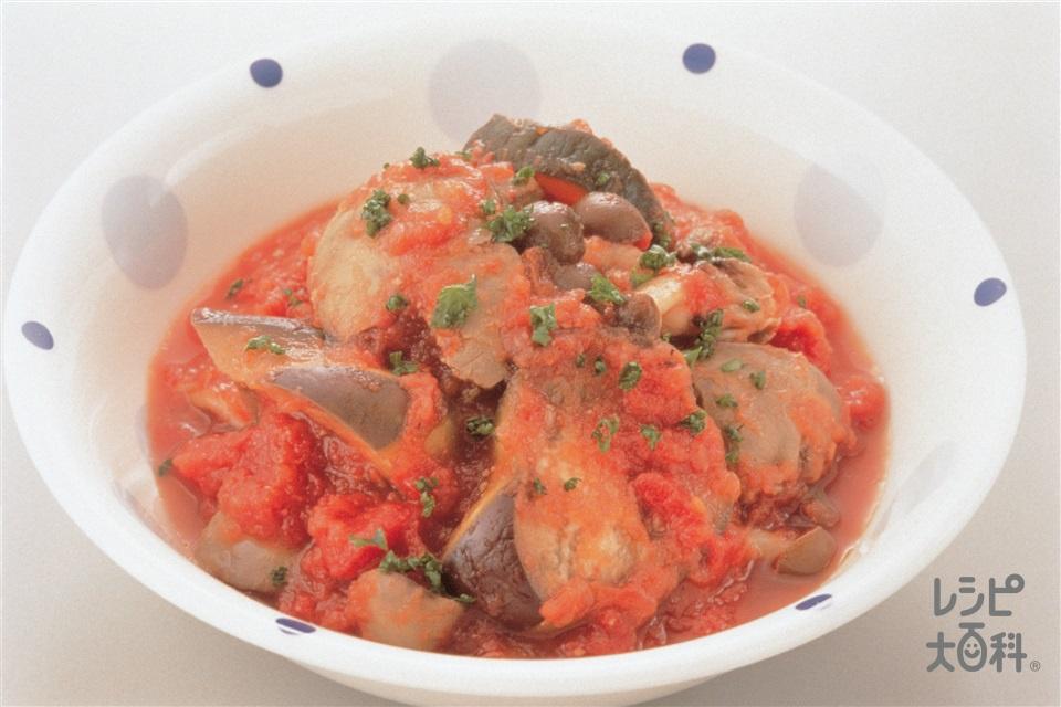 レバーのトマト煮(鶏レバー+ホールトマト缶を使ったレシピ)