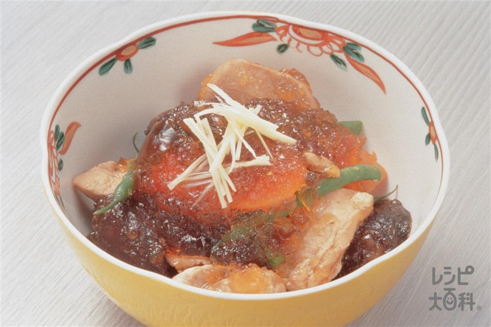 鶏肉の煮物 ゼリーあんかけ(鶏むね肉+にんじんを使ったレシピ)