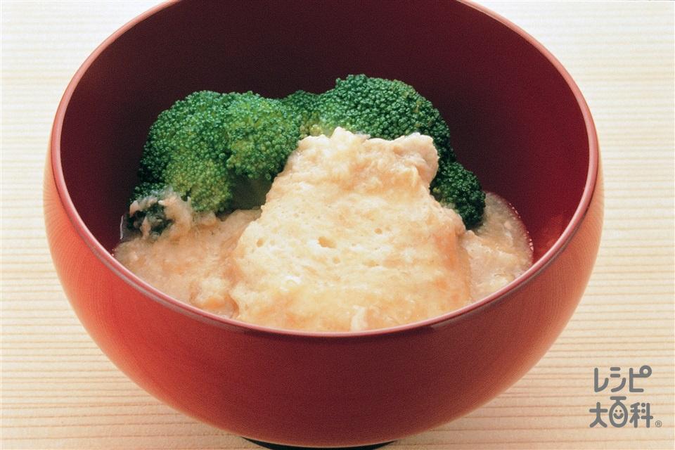山いもと鶏ひき肉の落とし煮(山いも+A鶏ささ身を使ったレシピ)