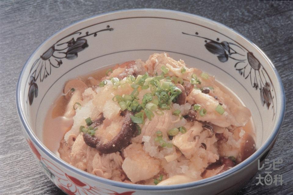 豚ときのこのおろし煮(豚もも肉+大根おろしを使ったレシピ)