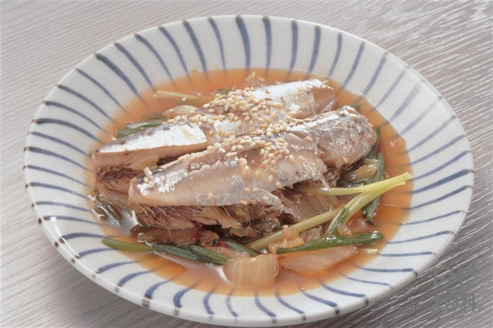 いわしのキムチ煮(いわし+白菜キムチを使ったレシピ)