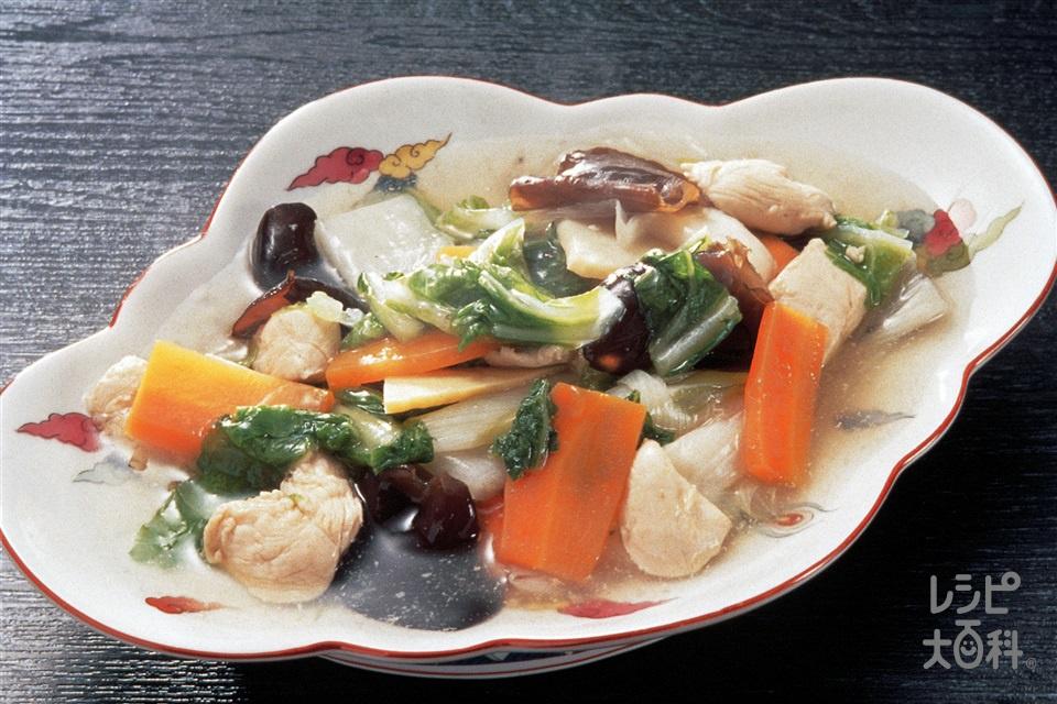 八宝菜(鶏ささ身+白菜を使ったレシピ)