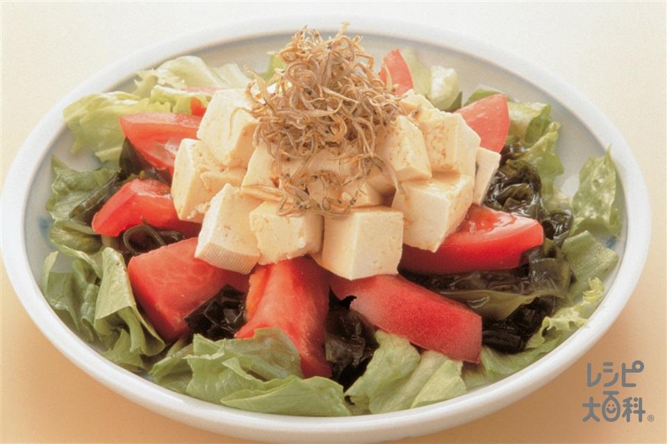 豆腐のサラダ(木綿豆腐+トマトを使ったレシピ)