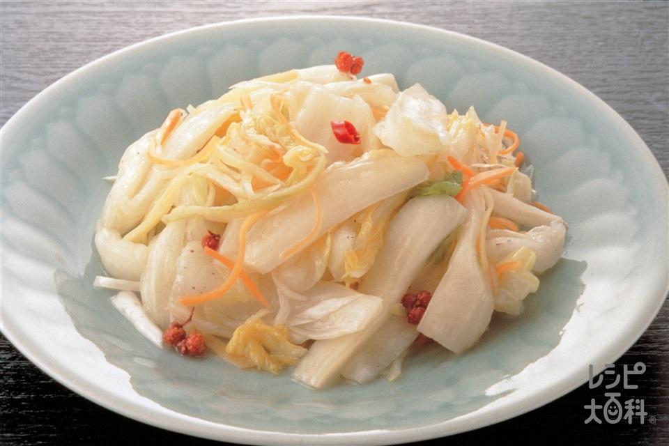 白菜の甘酢漬け(辣白菜)(白菜+にんじんを使ったレシピ)