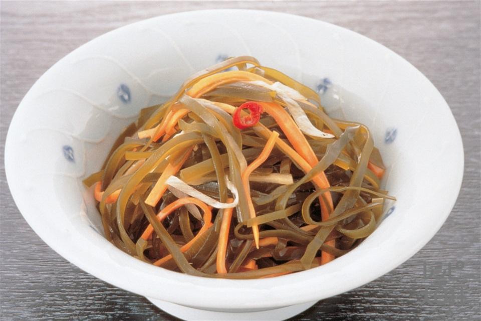 切り昆布の甘酢漬け(にんじん+ねぎを使ったレシピ)