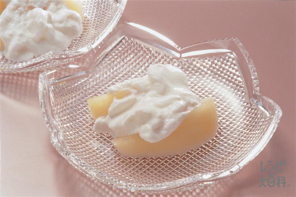 りんごの甘煮 ヨーグルトかけ(りんご+プレーンヨーグルトを使ったレシピ)