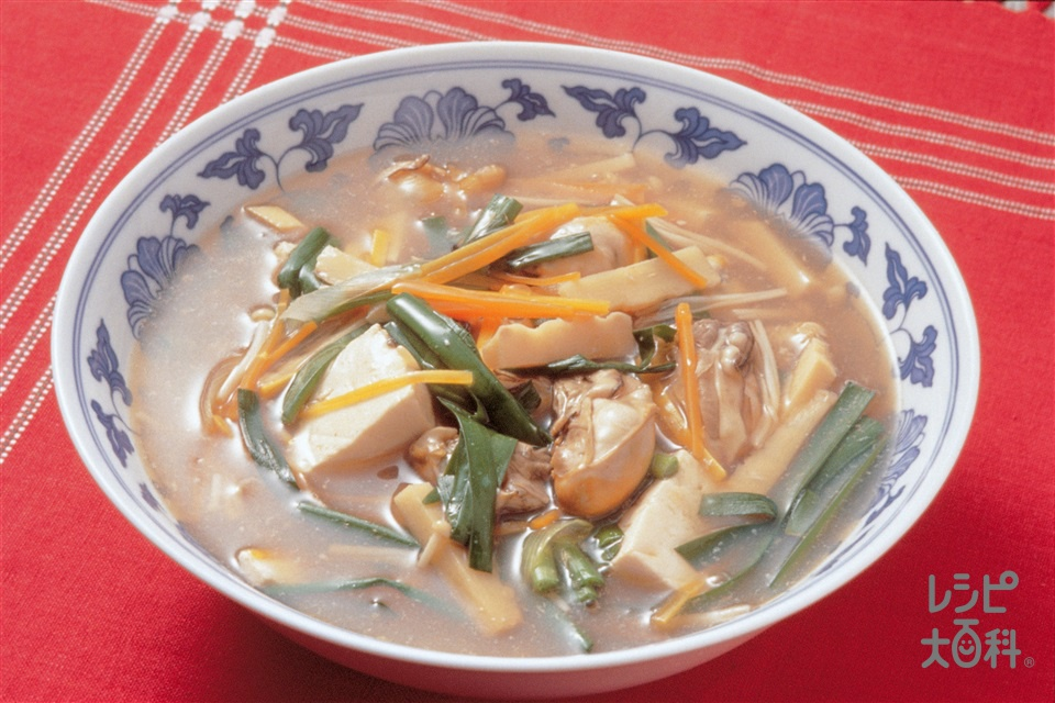 かきと豆腐のあんかけ煮(かき(むき身)+木綿豆腐を使ったレシピ)