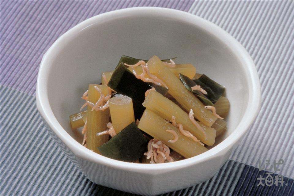 ふきの煮もの(ふき+ちりめんじゃこを使ったレシピ)