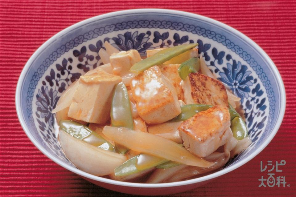 豆腐の酢豚風味(木綿豆腐+玉ねぎを使ったレシピ)
