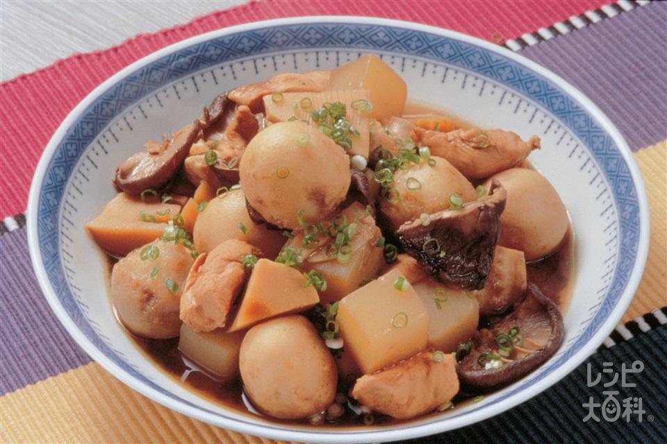 鶏肉と里いもの中国風みそ煮(鶏ささ身+こんにゃくを使ったレシピ)
