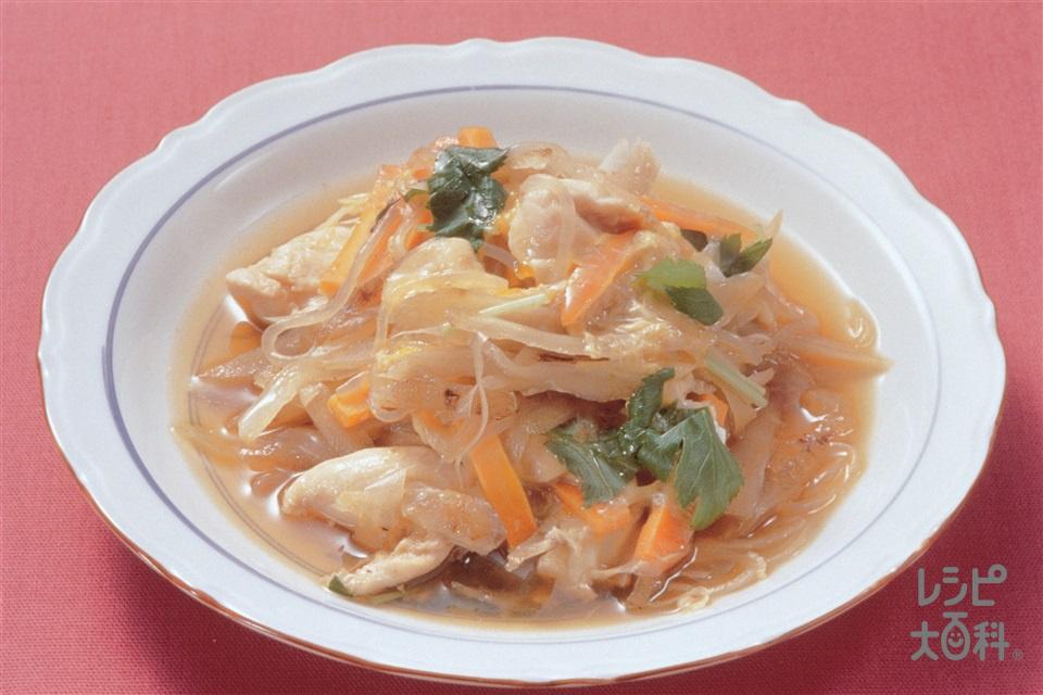 鶏肉の柳川風(鶏ささ身+玉ねぎを使ったレシピ)