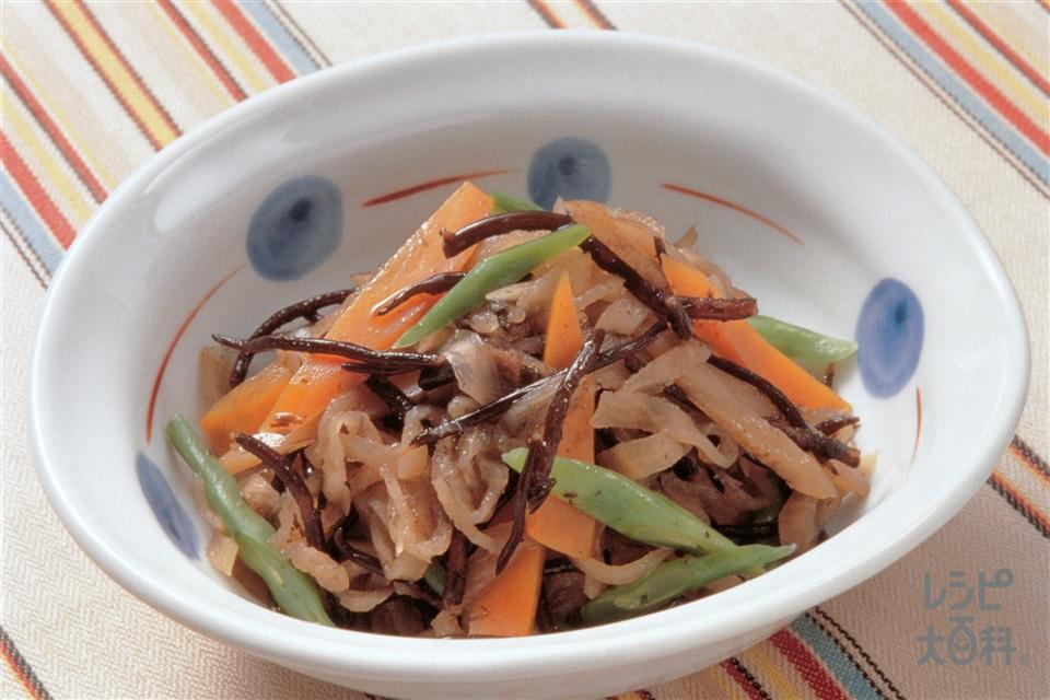 ひじきと切り干し大根の煮もの(にんじん+ごぼうを使ったレシピ)