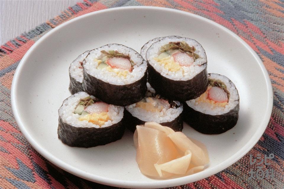 サラダ巻き(米+溶き卵を使ったレシピ)