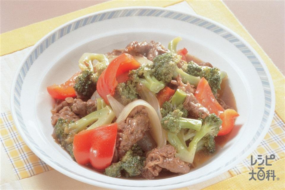 牛肉とピーマンのオイスターソース炒め(牛もも肉+玉ねぎを使ったレシピ)