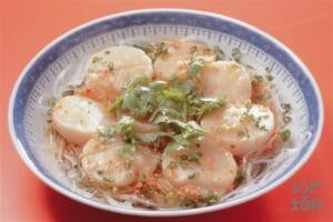帆立貝の薬味蒸し(帆立貝柱+しらたきを使ったレシピ)