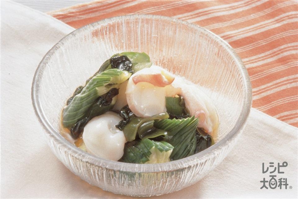 酢のもの(たこ・きゅうり・わかめ)(きゅうり+たこを使ったレシピ)