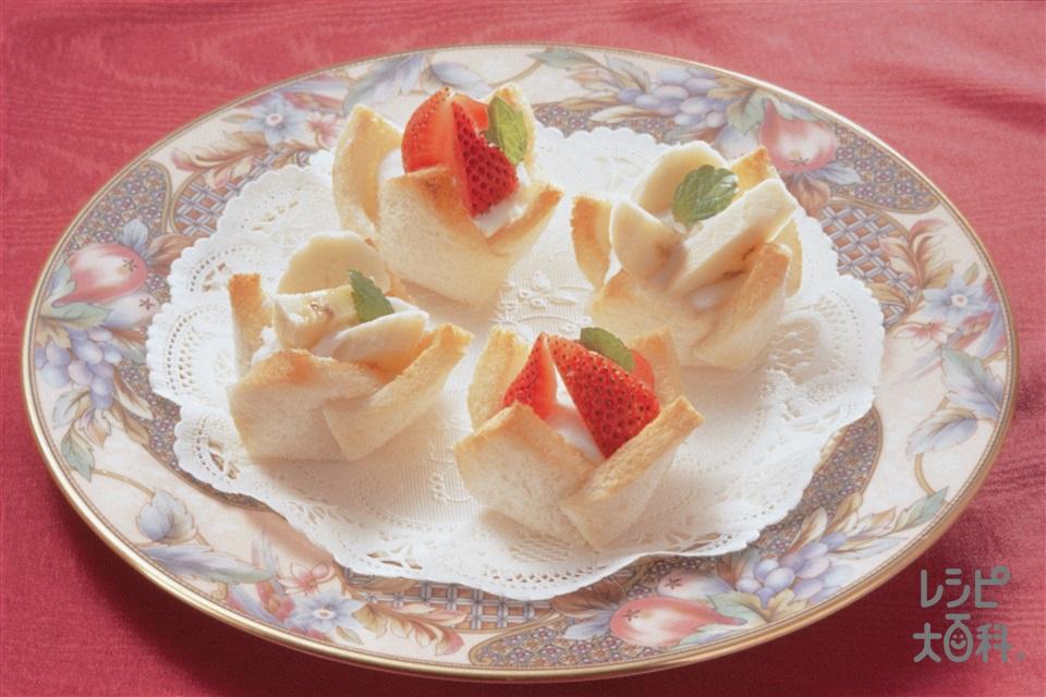 フルーツパンタルト(食パン+プレーンヨーグルトを使ったレシピ)