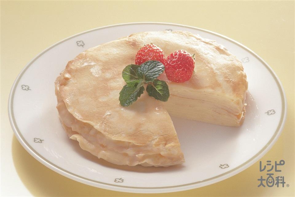 ミルクレープ(カスタードクリーム)(牛乳を使ったレシピ)