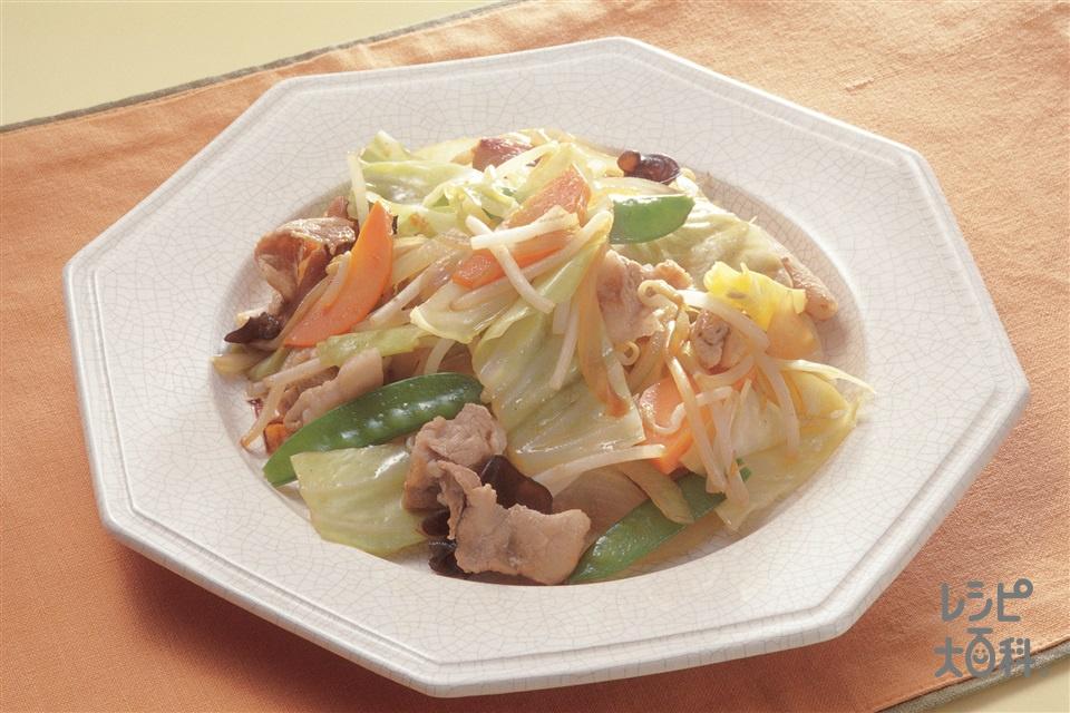 五目野菜炒め(キャベツ+玉ねぎを使ったレシピ)