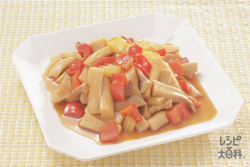 エリンギの甘酢煮(エリンギ+セロリを使ったレシピ)