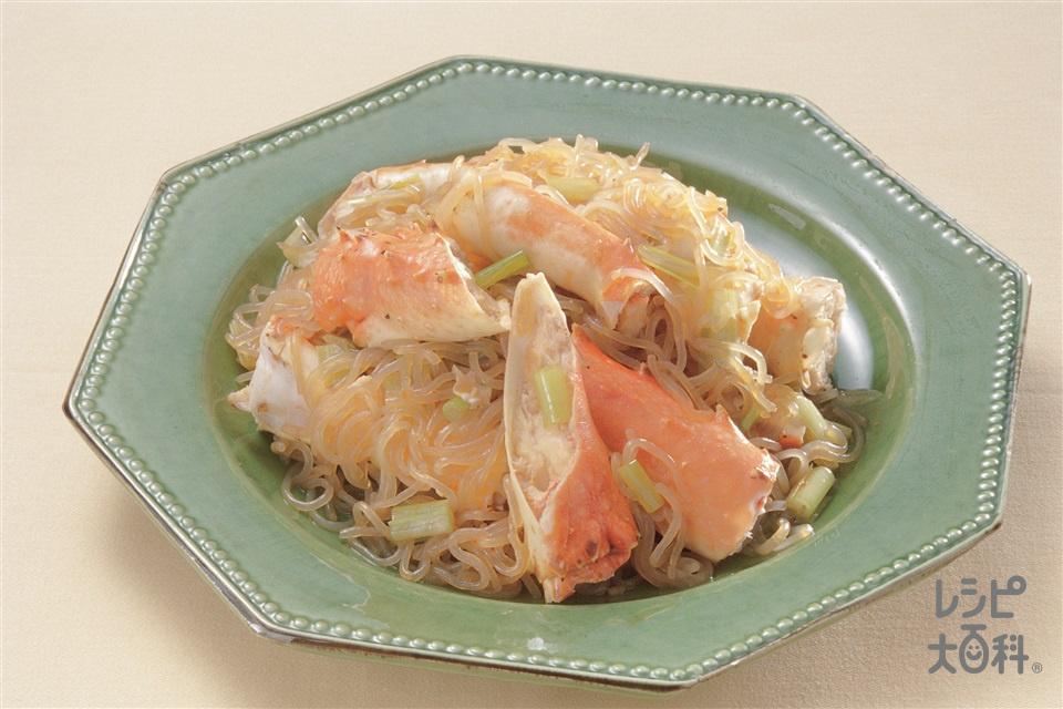 かにとしらたきの中国風煮もの(かに+しらたきを使ったレシピ)