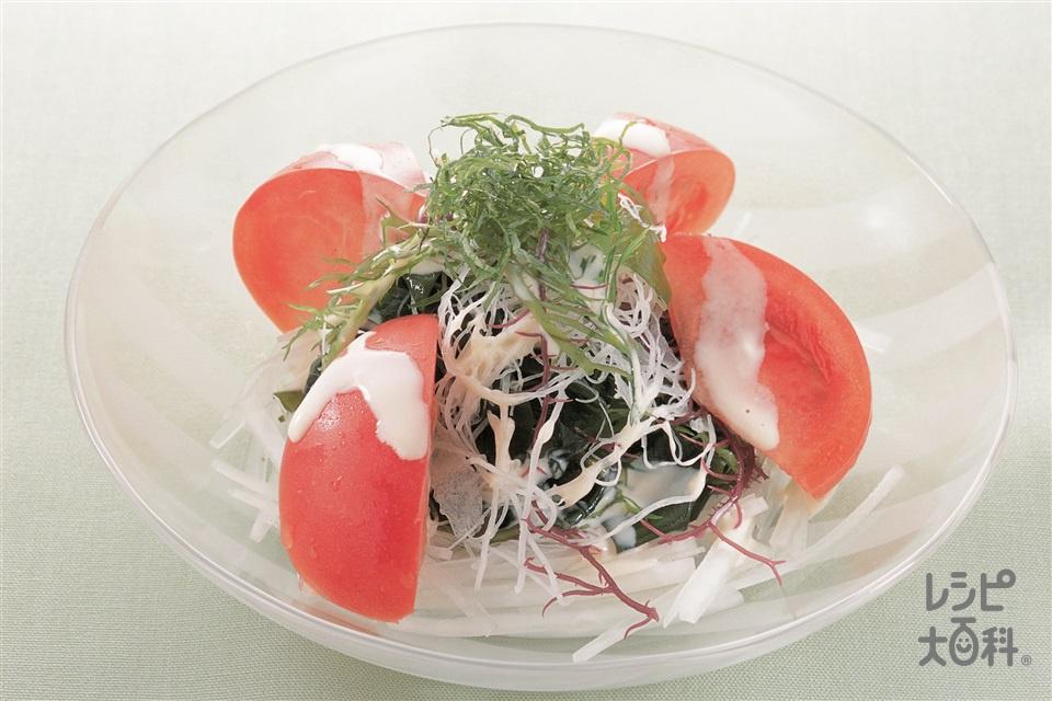 トマトと海藻のサラダ(トマト+大根を使ったレシピ)