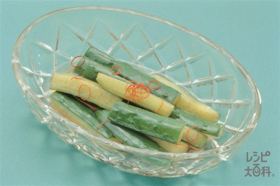 きゅうりの中国風酢漬け(きゅうり+砂糖を使ったレシピ)