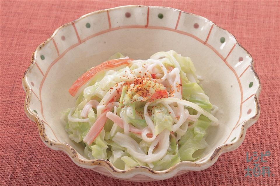 キャベツの七味マヨネーズ(キャベツ+玉ねぎを使ったレシピ)
