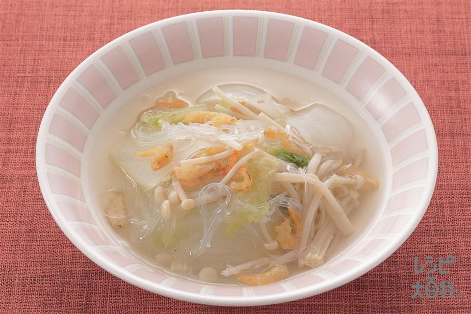 白菜と春雨のスープ煮(白菜+えのきだけを使ったレシピ)