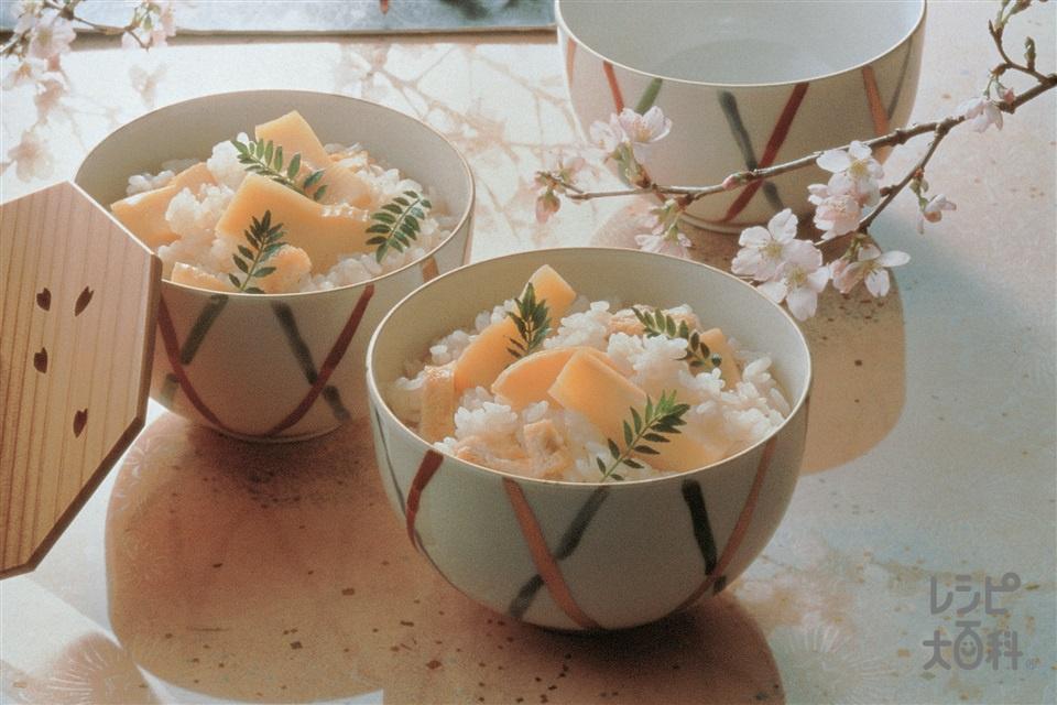 たけのこご飯(米+ゆでたけのこを使ったレシピ)