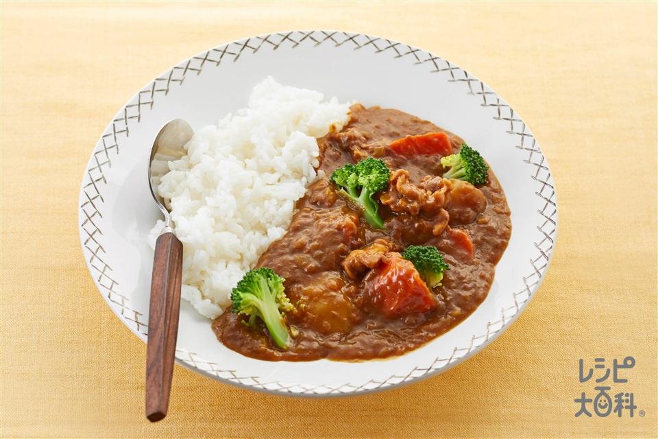 ポークカレー(豚肩ロース薄切り肉+じゃがいもを使ったレシピ)