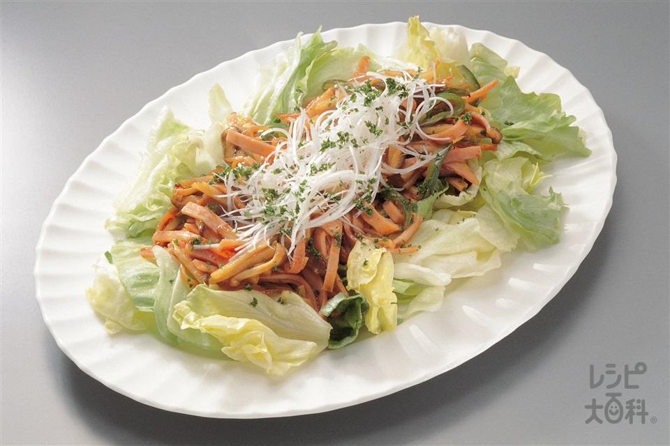 レタスの中国風サラダ(レタス+ゆでたけのこを使ったレシピ)
