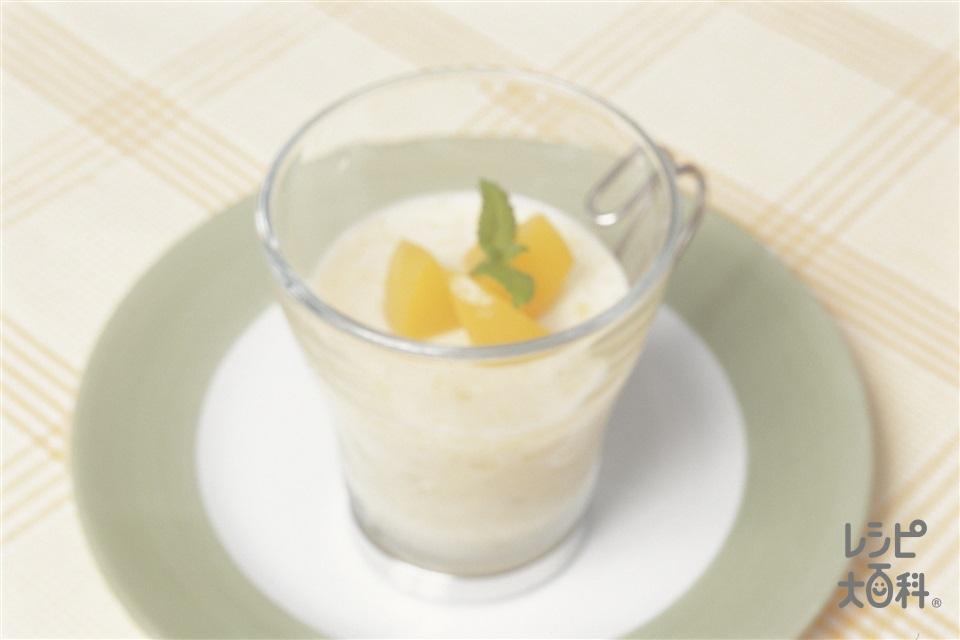 ピーチココナッツゼリー(ココナッツミルク+牛乳を使ったレシピ)