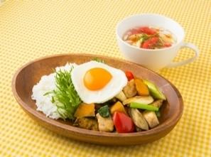 【おしゃれカフェメニュー】 お洒落なカラフル野菜のワンプレートメニュー! (ベジバーン考案)