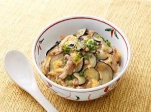 【簡単&10分で作る!】豚肉となすのさっぱり中華丼