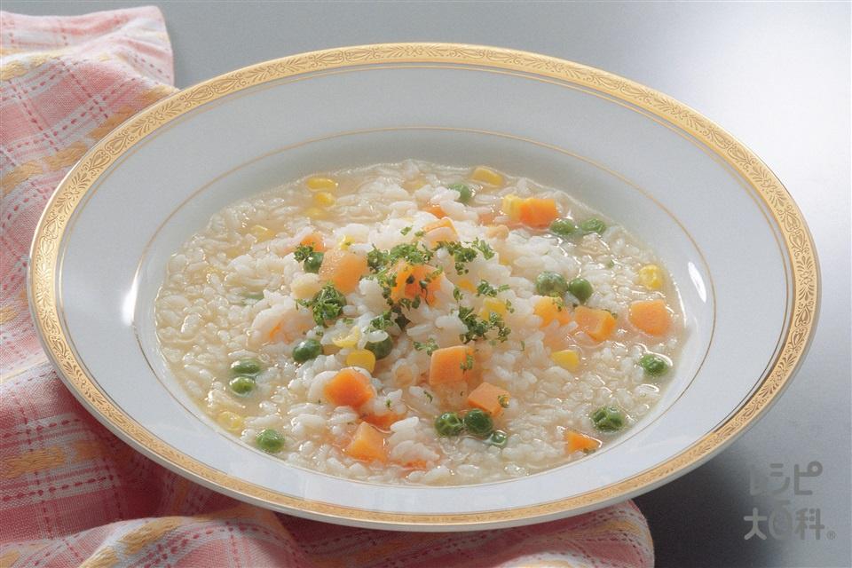 洋風雑炊(Aご飯+A味の素冷凍食品KK「ミックスベジタブル」を使ったレシピ)