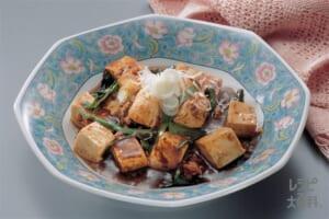 電子レンジで作るにら入り四川式麻婆豆腐