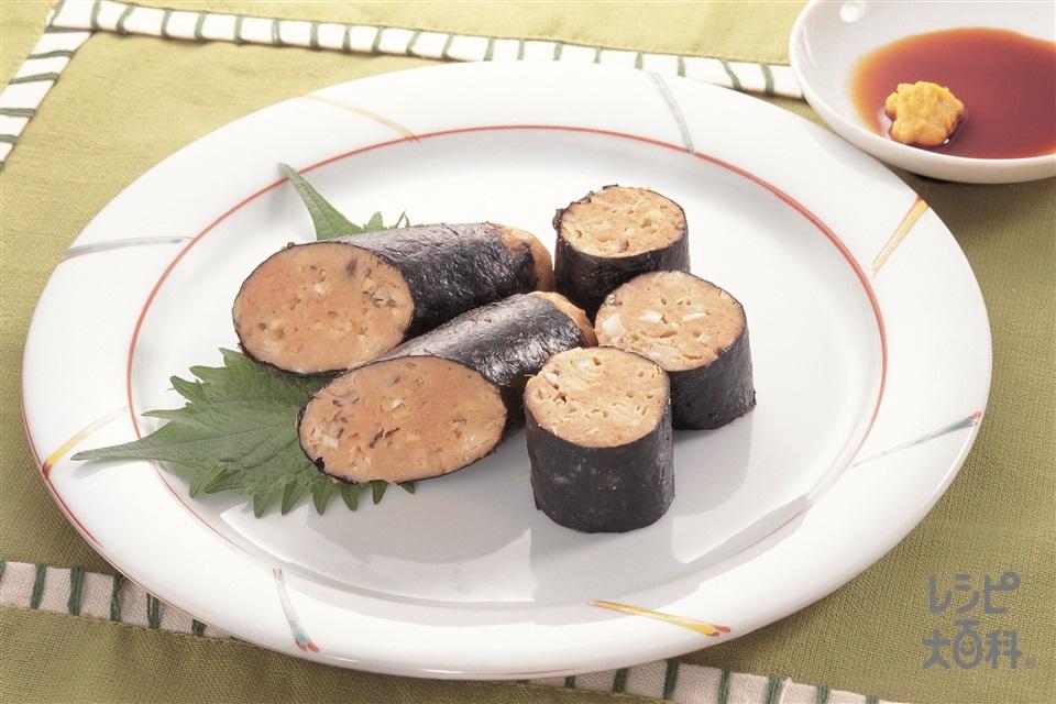 和風ソーセージ(豚赤身ひき肉+ねぎを使ったレシピ)