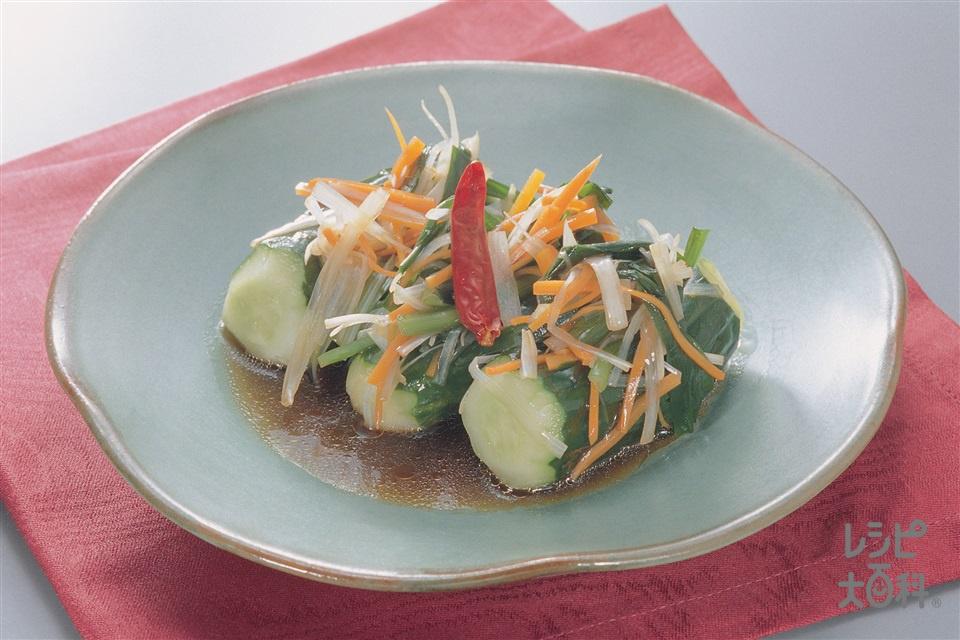 オイキムチ(きゅうり+にらを使ったレシピ)