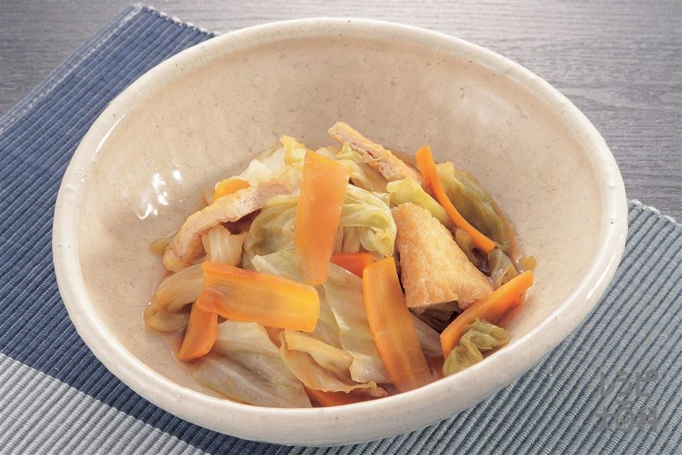 キャベツと油揚げのかんたん煮(キャベツ+にんじんを使ったレシピ)