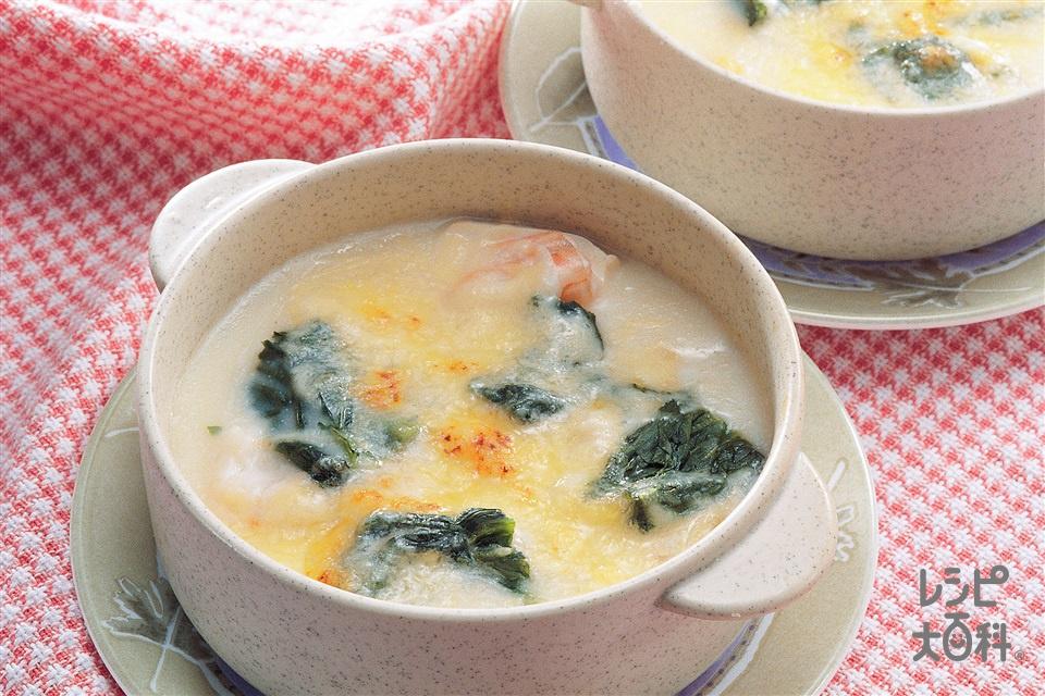 豆腐のグラタン(絹ごし豆腐+溶けるチーズを使ったレシピ)